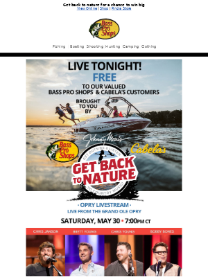 Don't miss out! Free Opry livestream TONIGHT!