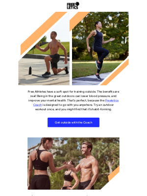 Freeletics - Need a mood boost? Get outside with Freeletics!