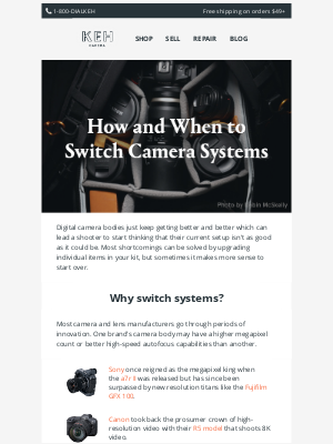 Keh - 📷 Don't switch systems before reading these tips