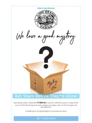 Lion Brand Yarn - We Love A Good Mystery