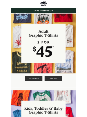 LAST CHANCE: 2 for $45 Graphic T-Shirts