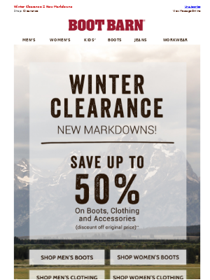 Save Big This Weekend - Up To 50% Off Select Boots & Clothing