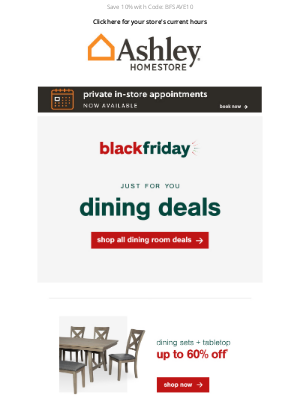 Ashley Furniture Industries - ✓ A Little Treat from Us: Save Up to 60%*
