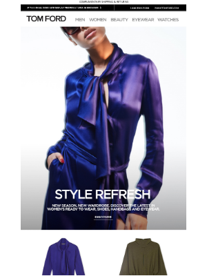 TOM FORD - STYLE REFRESH