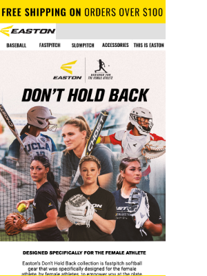 Easton Slowpitch - Exclusive Fastpitch Collection👏🏼 Shop Now!
