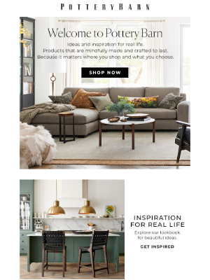 Pottery Barn - You're officially on the list