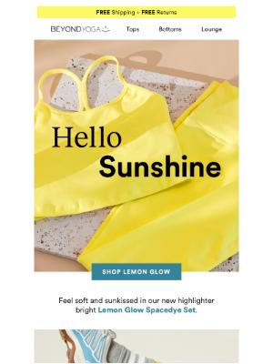 Beyond Yoga - NEW Spacedye Lemon Glow!