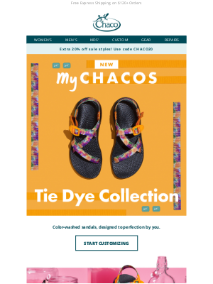Chaco - NEW: MyChacos Tie Dye Collection