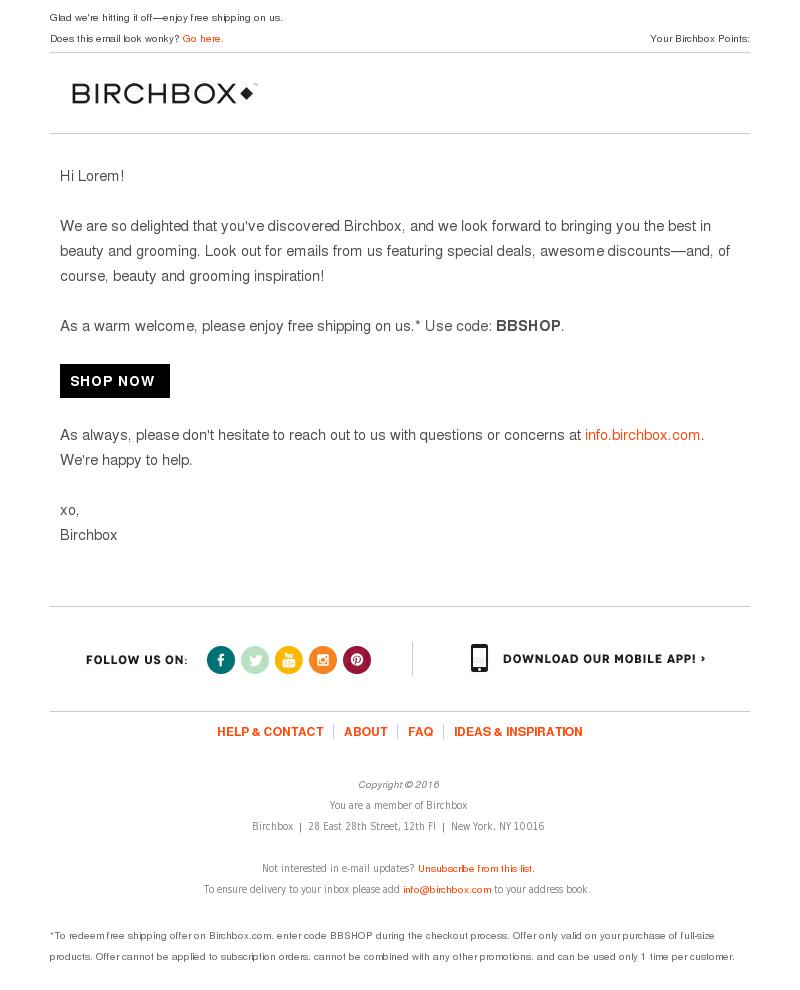 Birchbox USA - We're So Happy You Found Us!