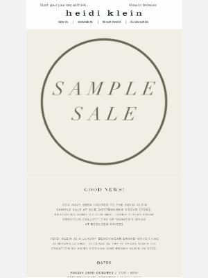 Heidi Klein - Heidi Klein Sample Sale
