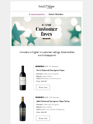 Total Wine & More - 4+ Star Cabs ⭐Plus Coupon