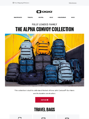 Ogio - Shop ALPHA Convoy Travel Bags + Backpacks