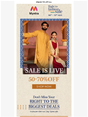 Right To Fashion Sale Is Live! 🇮🇳