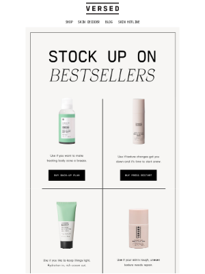 Versed - 4 products you can't stop repurchasing