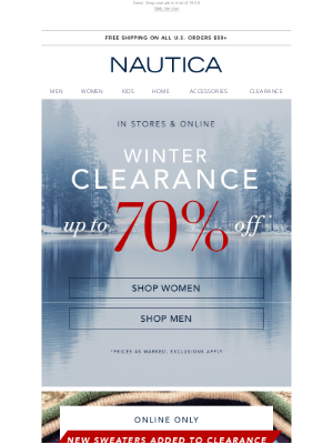 Nautica - Open for up to 70% off Winter Clearance