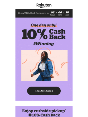 Rakuten - Get 10% Cash Back ⌛️ Just hours left!
