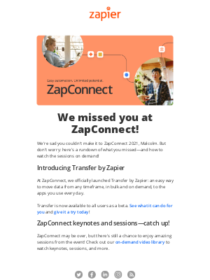Zapier - Here's what you missed at ZapConnect