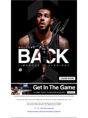 Brooklyn Nets - Welcome Back LaMarcus Aldridge