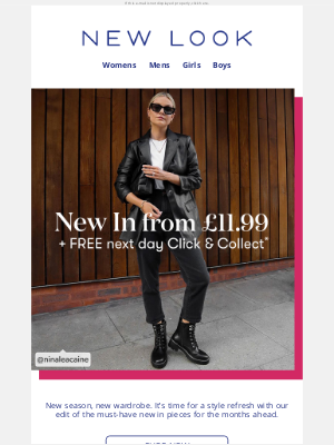 New Look (UK) - Thanks, it's new from £11.99✨