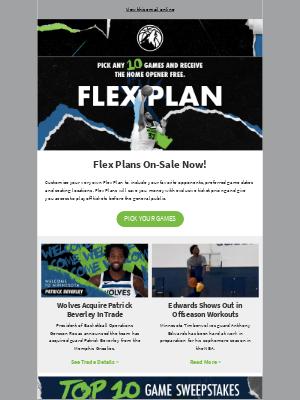 Minnesota Timberwolves and Lynx - Flex Plans On-Sale Now!