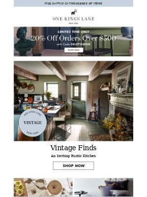 A rustic vintage kitchen