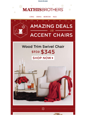 ❄ Amazing Deals on Accent Chairs ❄