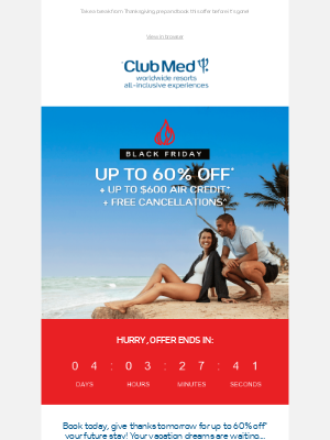 Club Med - Your Thanksgiving prep includes vacation!