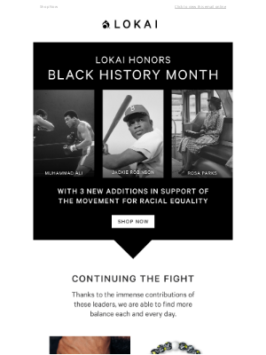 Lokai - Celebrate Black History Month