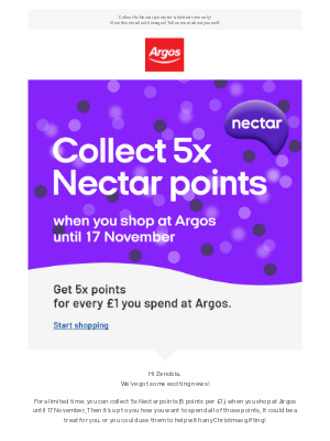 Argos (UK) - We've got a treat for you...