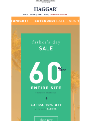 Haggar Clothing Co. - 60% Off Everything EXTENDED!!