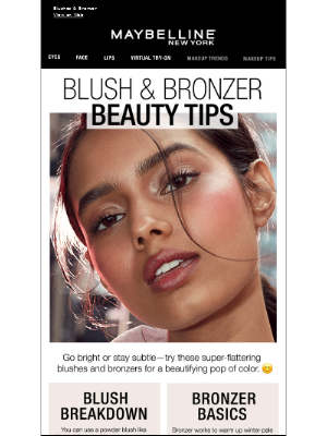 Maybelline - Blush & Bronzer Tips That Will Leave You 😊