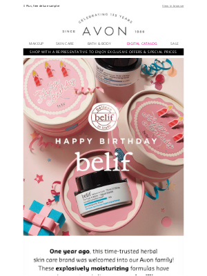 Avon - Celebrate Belif With Jumbo Limited Editions