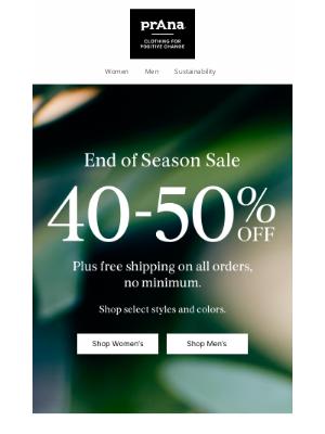 prAna - The End of Season Sale Is On