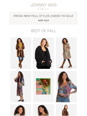 Johnny Was - So Much to Love: New Markdowns & More