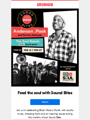GrubHub - See Anderson .Paak and The Free Nationals perform tonight!