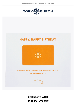 Tory Burch - Happy birthday — our gift to you