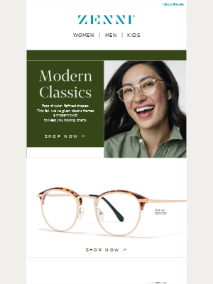 Zenni Optical - Timeless Frames with a Fresh Twist