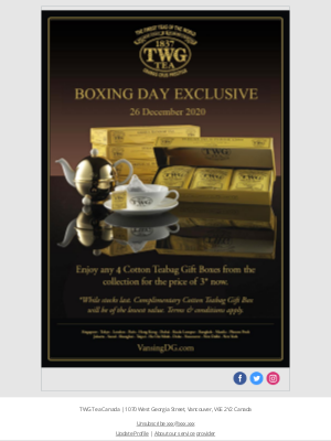 TWG Tea Canada - It's time to get what you really wanted