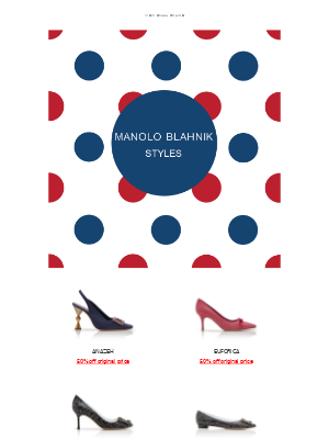 Manolo Blahnik - New Styles Added to our Sale Site