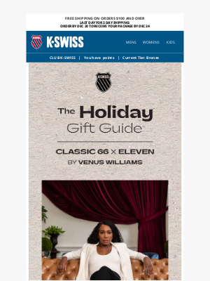 K-Swiss - The Perfect Gift: Our Eleven By Venus Williams Collab! 🎁