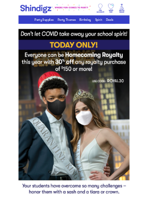 Shindigz - Royalty for Everyone - 30% Off Today Only!