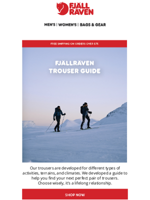 Fjällräven - Find Your Perfect Fit With The Fjällräven Trouser Guide