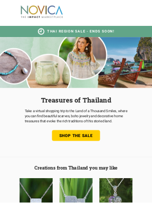NOVICA - Up to 15% off in Thailand - Ends Soon!