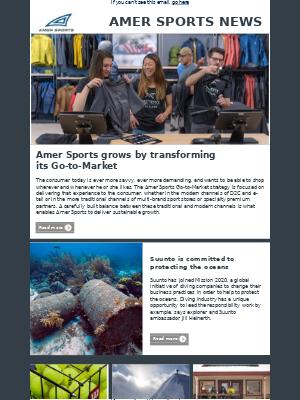Amer Sports - Amer Sports Investor Relations Newsletter November 2018