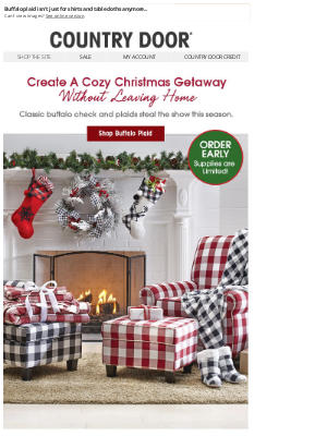 Country Door - Wishing For A Cozy-Cabin Christmas? Take A Look