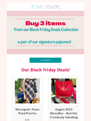 I Love Jewelry - 50% OFF our Pajamas!!