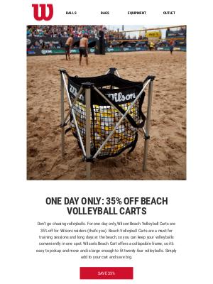 Insider Deal: 35% off Beach Volleyball Carts