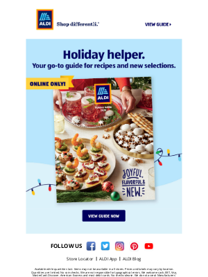 Aldi (UK) - Our New Holiday Guide is Here!