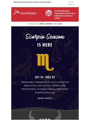 Jackrabbit - It's Scorpio Szn - are you ready? ♏
