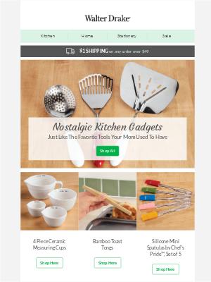 Walter Drake - Now Trending: Nostalgic Kitchen Gadgets